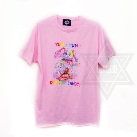 【Devilish】Devilish Candy T-shirt<クマT>