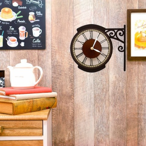 【WALL CLOCK STICKER】CAFE STREET CLOOK