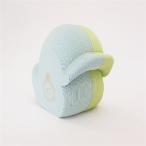 【鳥ふせん】Bird Sticky note Duck  アヒル light blue/green【CRU-CIAL】