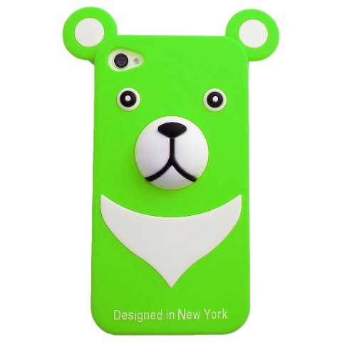 おとぼけクマさんのiPhone4 Case iburg 3D Bear Green