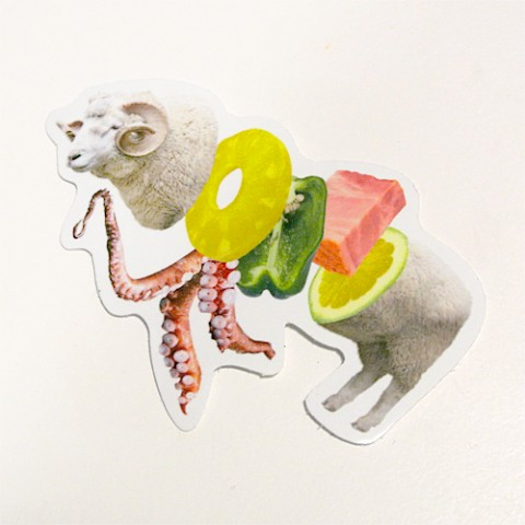 【Pola】ステッカー「JUICY ANIMALS」Mutton
