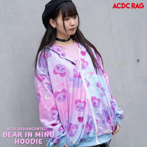 【ACDC RAG】BEAR IN MIND ZIPパーカー