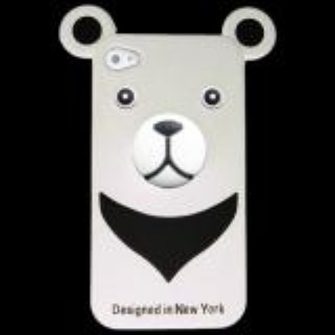 おとぼけクマさんのiPhone4 Case iburg 3D Bear White