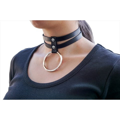 【夢月ゆーり】Leather  Choker