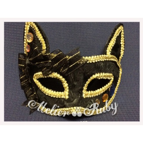 【Atelier Ruby】Mask Headdress-Cat/BK