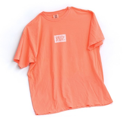 【BRIDGE SHIP HOUSE×VV】Tシャツ (Neon Red Orange) Mサイズ