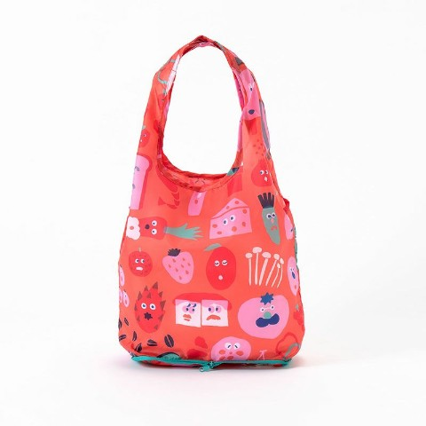 【エコバッグ】KAKUZOKO BAG AIUEO S(FOOD CHAN)