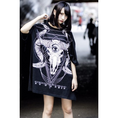 【acOlaSia】mOrSe BIG TEE BLACK