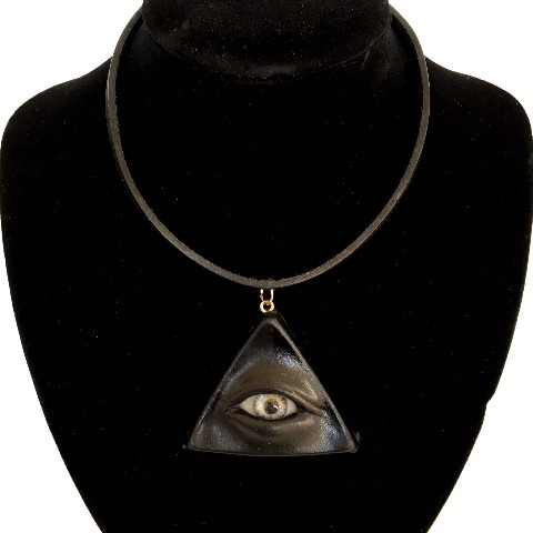 【MALICIOUS.X】TRIANGLE EYE CHOKER /BLACK (BLUE)