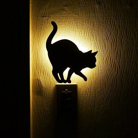 Wall light cat wall light mozeypictures Gallery