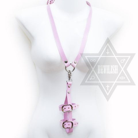 【Devilish】Phone harness necklace(pink)<スマホ用ハーネス>