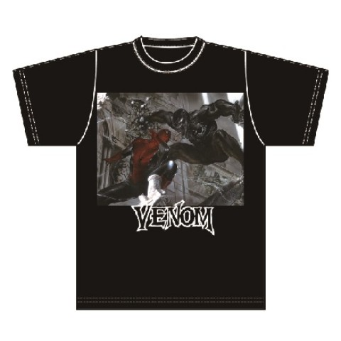 【VENOM】Tシャツ SPIDER-MAN VS VENOM (Lサイズ)