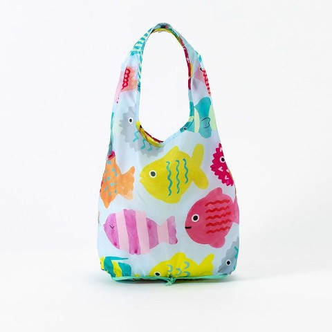 【エコバッグ】KAKUZOKO BAG AIUEO S(Rainbow Fish)