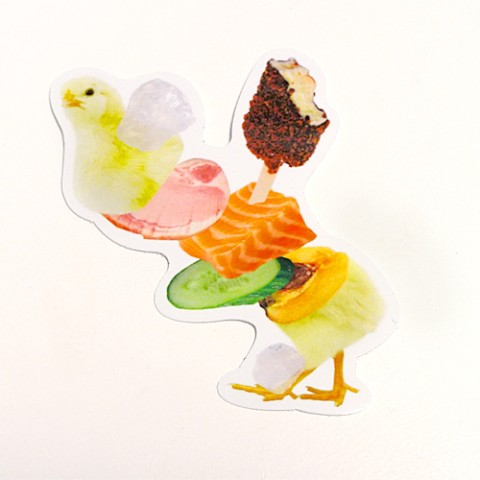 【Pola】ステッカー「JUICY ANIMALS」Chicken