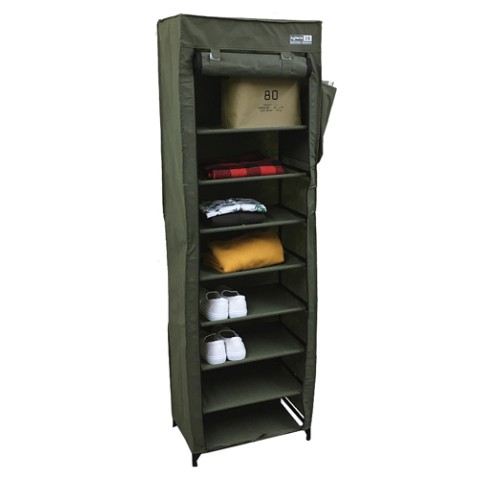DUSTPROOF SHOERACK OLIVE
