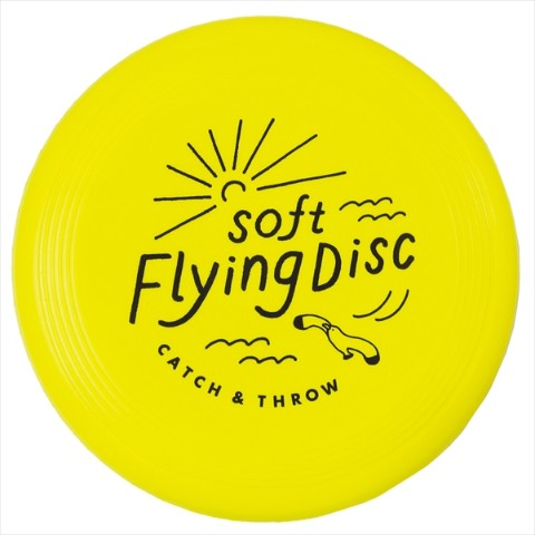 【フリスビー】SOFT FLYING DISC(Yellow)
