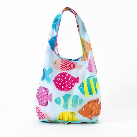【エコバッグ】KAKUZOKO BAG AIUEO M(Rainbow Fish)