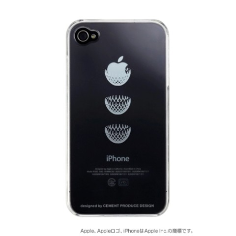 【アップルマークを有効活用】iPhone4/4Sケース iTatoo〈DRESS IT〉 LDE005-D iPhone4/4S