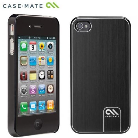 Case Mate iPhone 4S / 4用CASE Barely There Brushed Aluminum Black