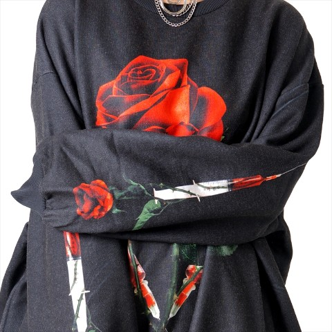 【TRAVAS TOKYO】Medical Rose BIG PO 【Black/Red】