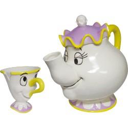 【迪士尼】美女與野獸的茶具