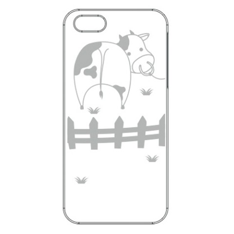 【iPhone5/5s】【アップルマークを有効活用】iPhone+ 2012MODEL /Cow