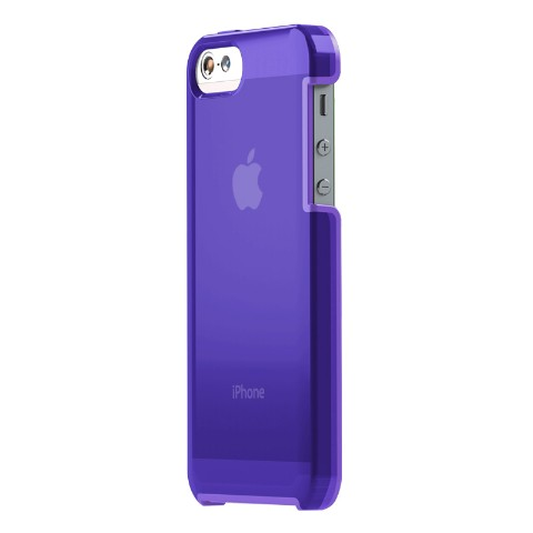 【iPhone5/5s】TUNESHELL RUBBER FRAME パープル