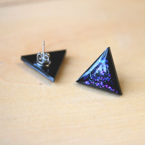 【liimiing】Blue Nebula Triangle ピアス