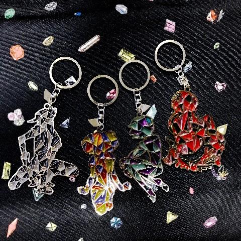 【ヴィレヴァン限定】【宝石の国】ステンドグラス風キーホルダー(フォスフォ