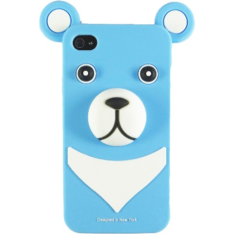 おとぼけクマさんのiPhone4 Case iburg 3D Bear Water Blue