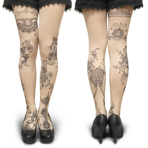 【abilletage】Tangle art tights -twine- (nude)