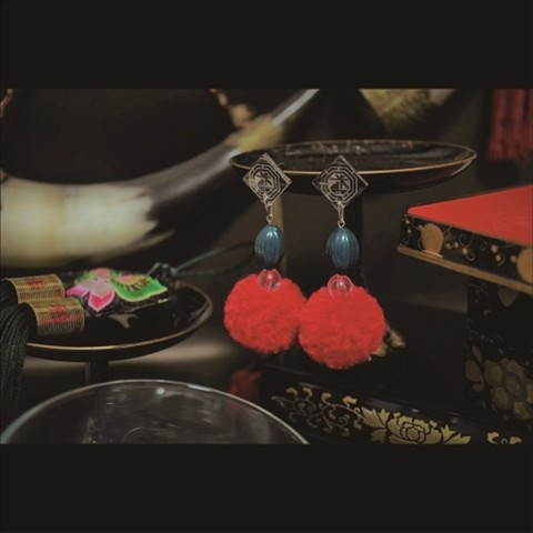 京劇耳环【Jīng jù Earrings】(ピアス)/米寿