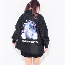 【TRAVAS TOKYO】Satellite bear Coaches Jacket【Black/Blue】