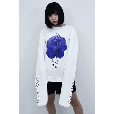 【アマツカミ】牡丹 Long Sleeve Sweat White