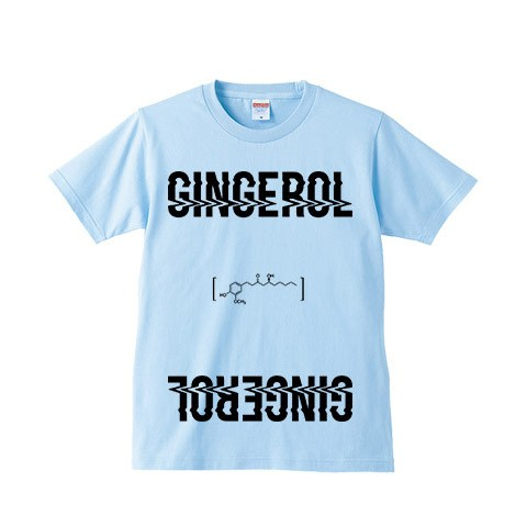 【a crowd of rebellion】 Gingerol 限定Tシャツ LIGHT BLUE XL
