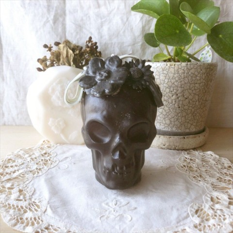 【10mei candle works】skull (ブラック)