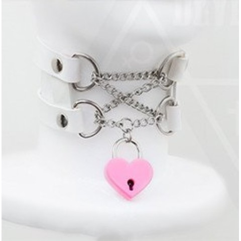 【Devilish】<囚われの私>I am taken choker(white)
