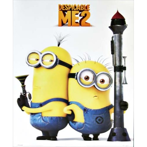 【ポスター】DESPICABLE ME 2 /Armed minions【ミニポスター】