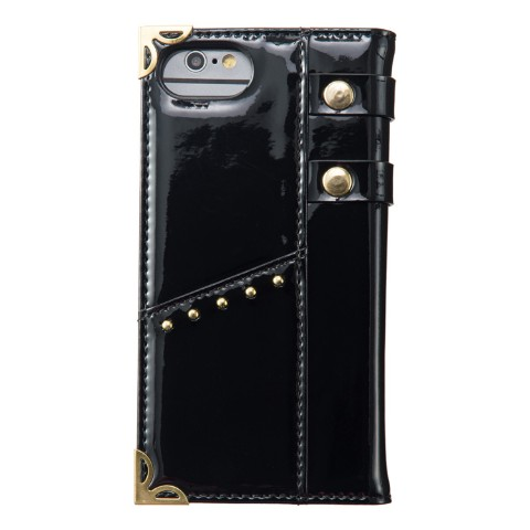 【夢月ゆーり】Leather Ring Smartphone GOLD(iPhone8/7/6/6S兼用)