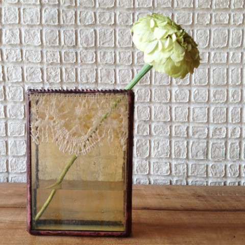 【iri】flower vase/square 1