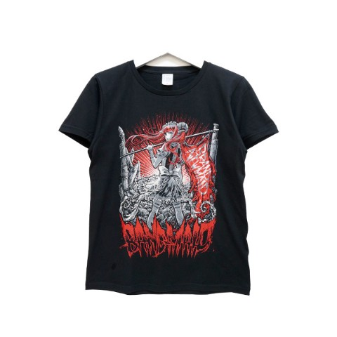 BAND-MAID Tシャツ KagaMI Design B Red / Gray S