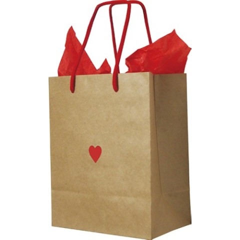 Paper Bag Heart Kraft