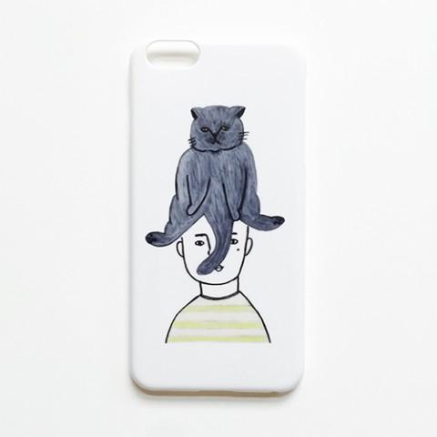アナログ企画】iPhone8ケース「頭にねこ」 / 雑貨通販 ヴィレッジ ...