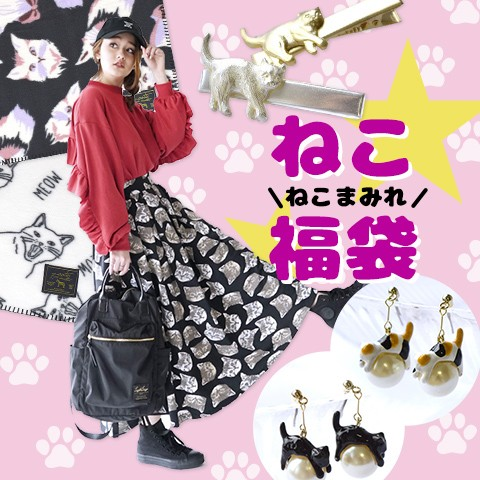 〇ねこ福袋2020〇【B】にゃん好き歓喜のスカート入り福袋