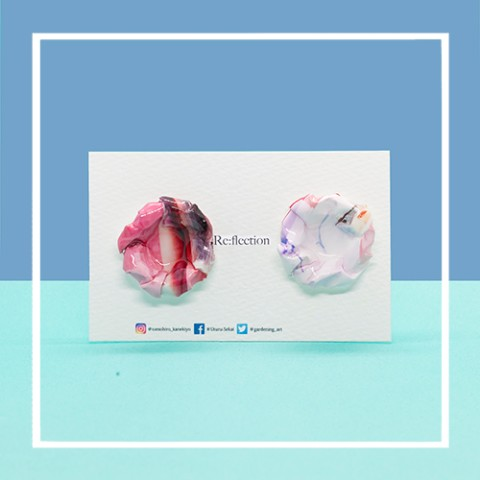 【Re:flection】blossomピアス(pink)