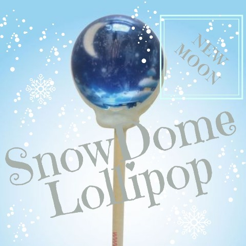 SnowDome Lollipop new moon / Marshmallow