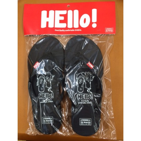 【BURNING THE REGISTER】 HELLO BEACH SANDALS (ブラック) S 約22.5cm