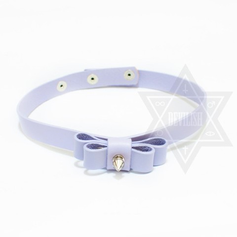 【Devilish】Ribbon choker (purple)