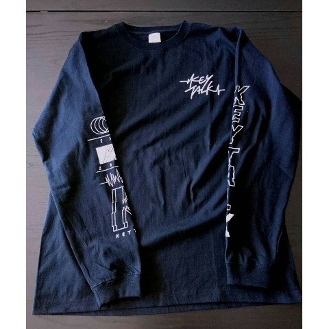 【KEYTALK】LONG SLEEVE T-SHIRT(ブラック)XL