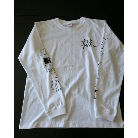 【KEYTALK】LONG SLEEVE T-SHIRT(ホワイト)L